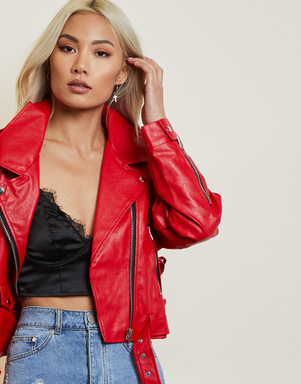 Bites The Dust Faux Leather Jacket