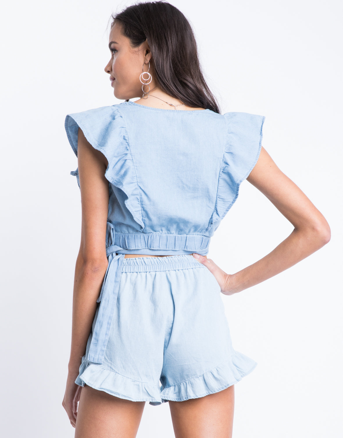 Blue Moon Denim Crop Top