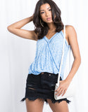 Boho Blues Surplice Tank