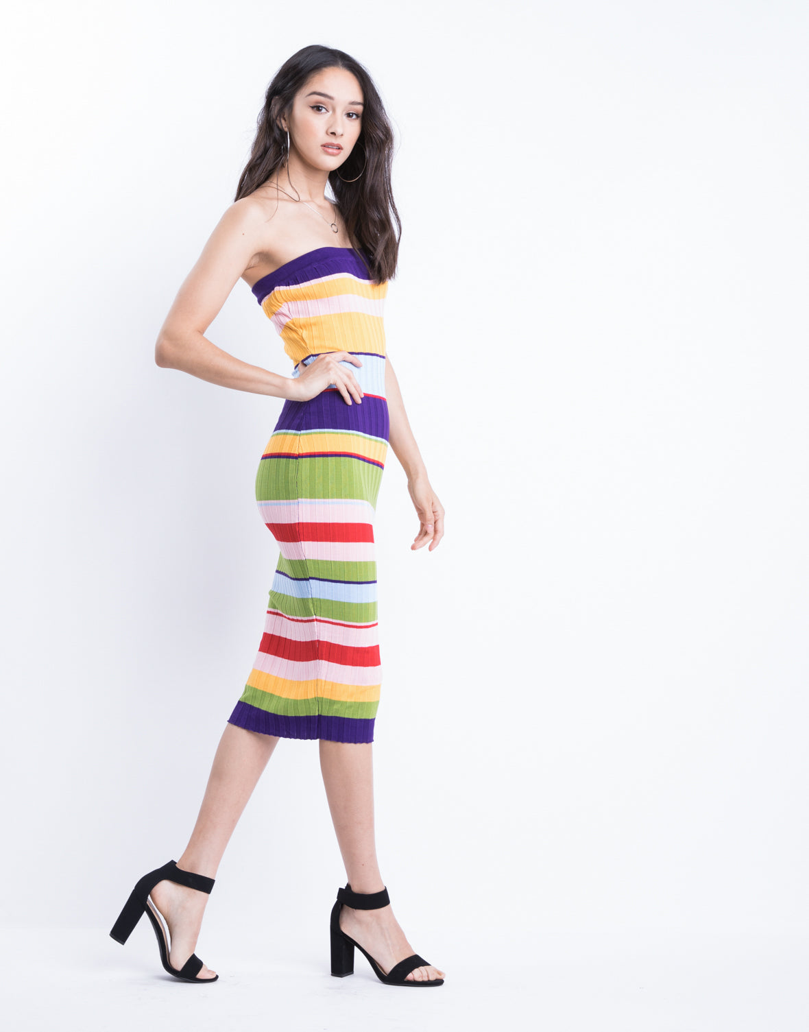 Bold Color Blocked Dress