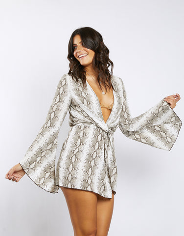 Born to Be Wild Snakeskin Mini Dress