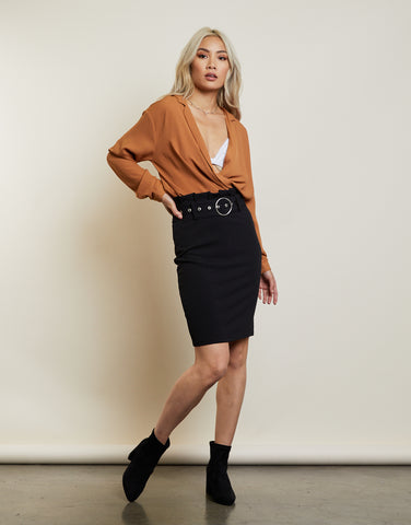 Boss Babe Midi Skirt