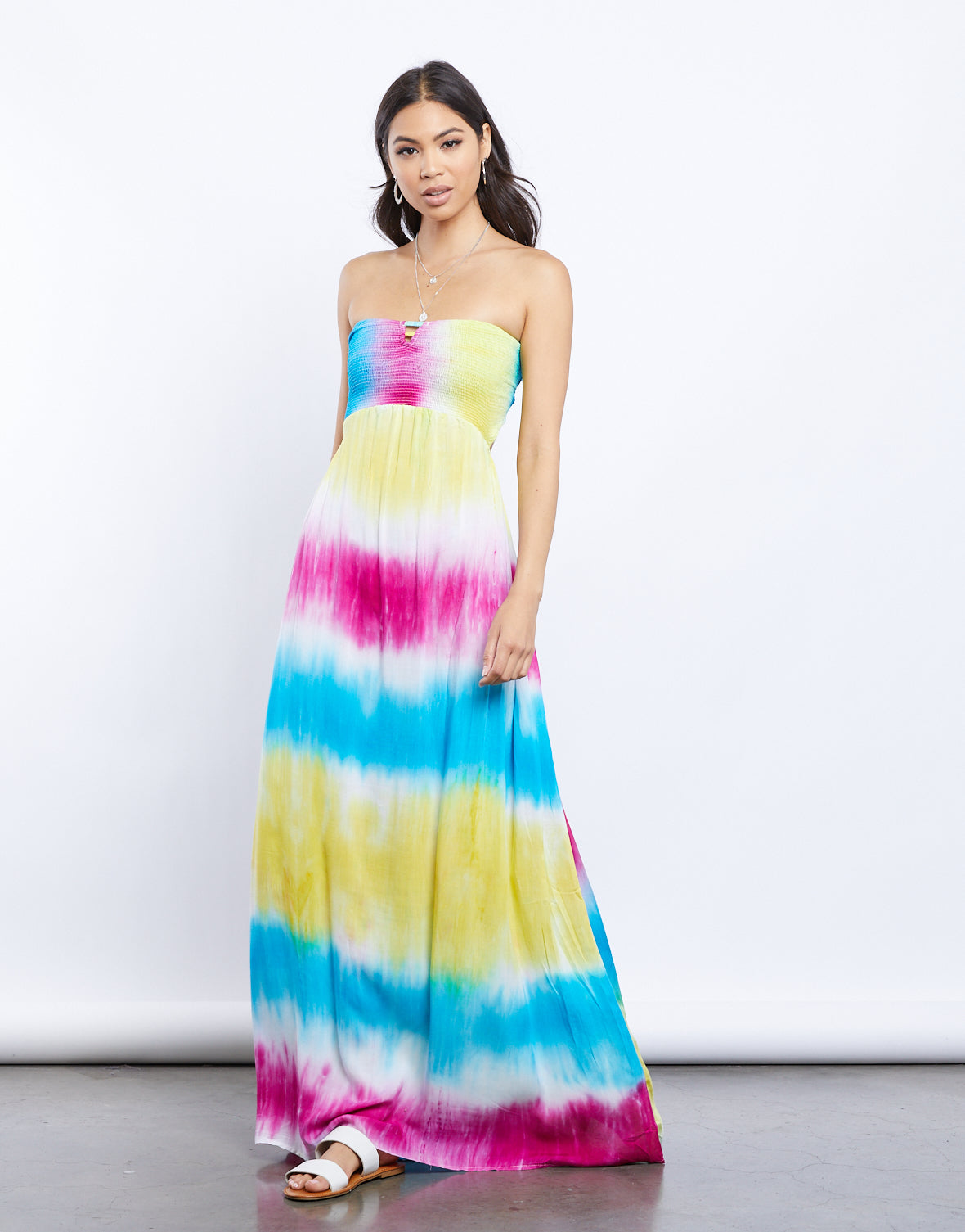 Bright Eyes Tie Dye Maxi Dress