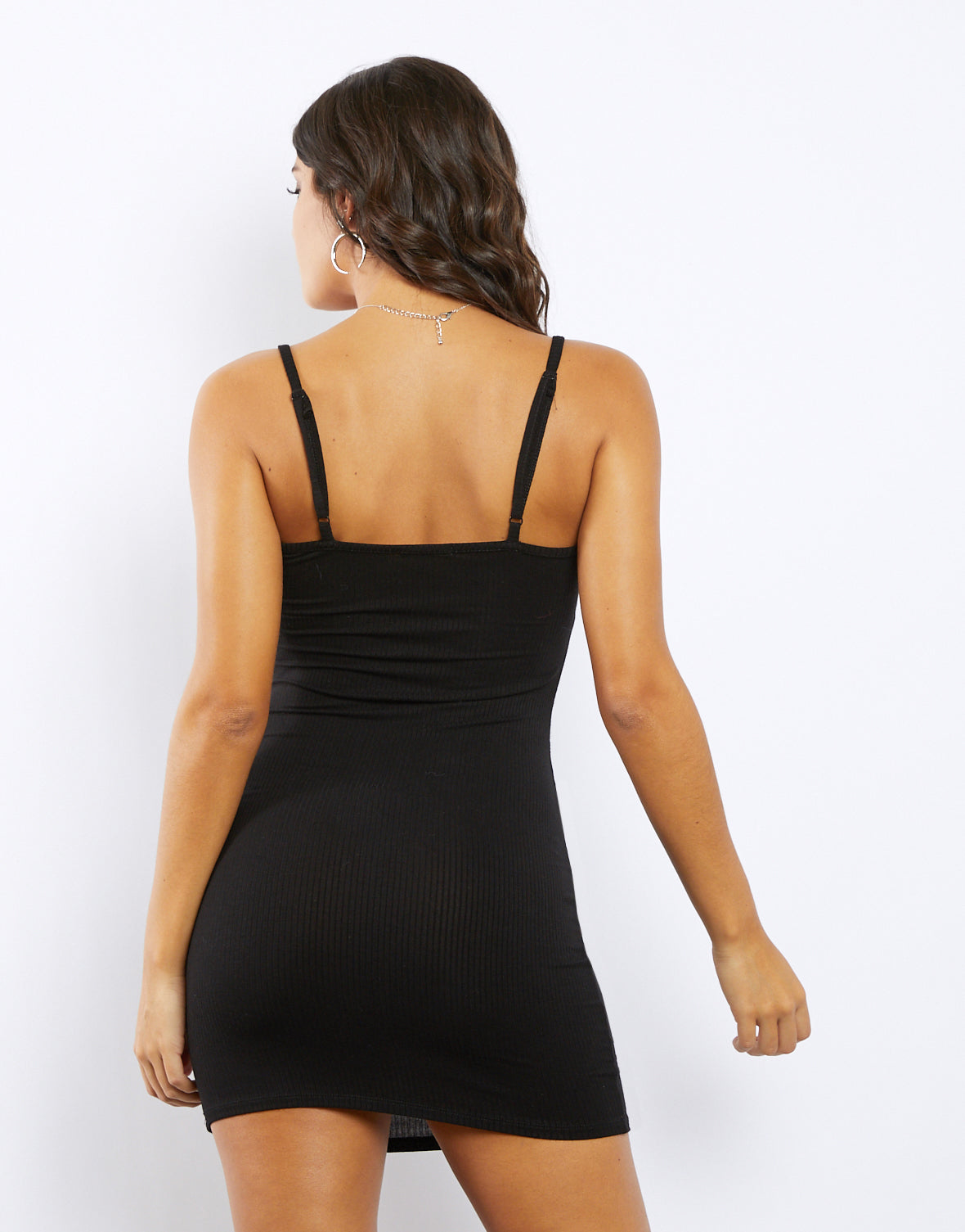 Brooke Straight Neck Bodycon Dress