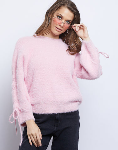 Bubblegum Baby Fuzzy Sweater