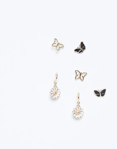Butterfly Daisy Earring Set