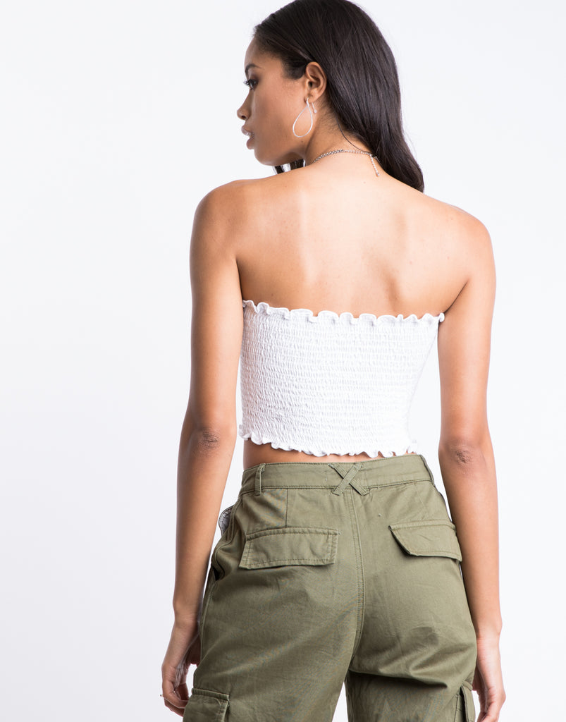 Cameron Smocked Tube Top Tops -2020AVE
