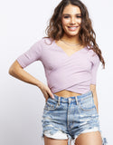 Candice Criss Cross Crop Top