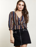 Candied Stripe Wrap Top