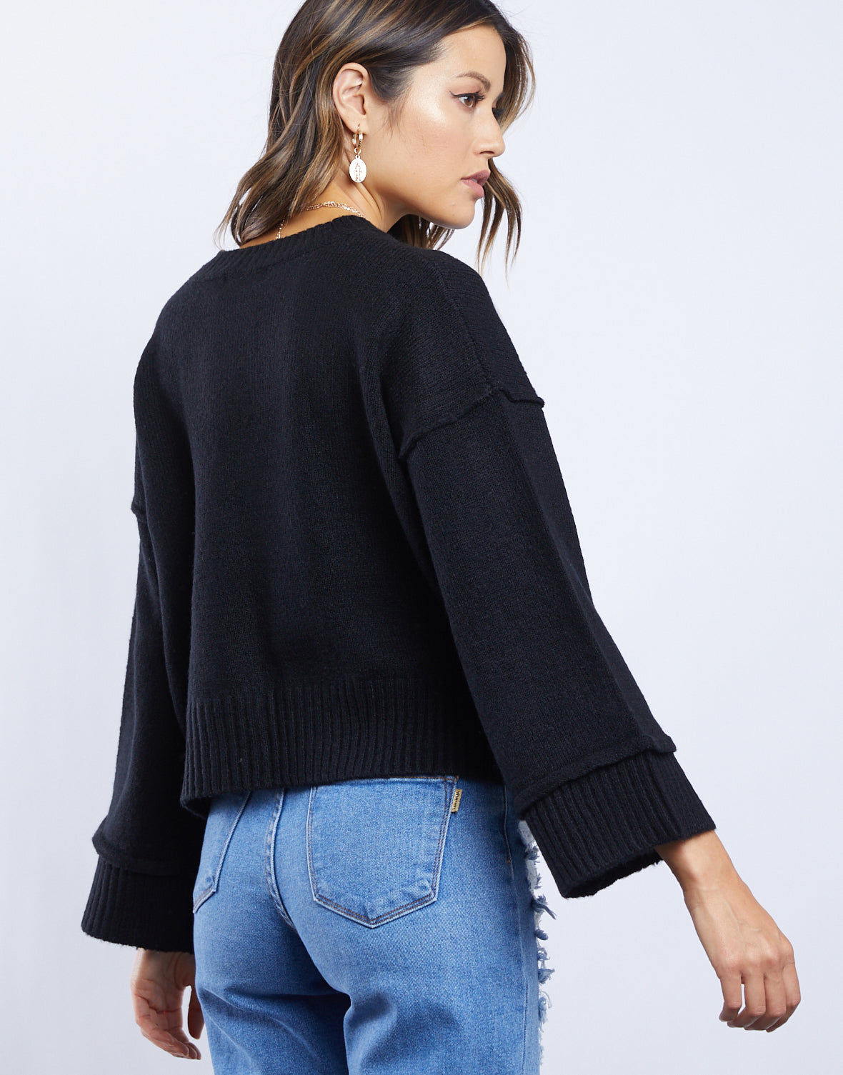 Cara Bell Sleeve Sweater
