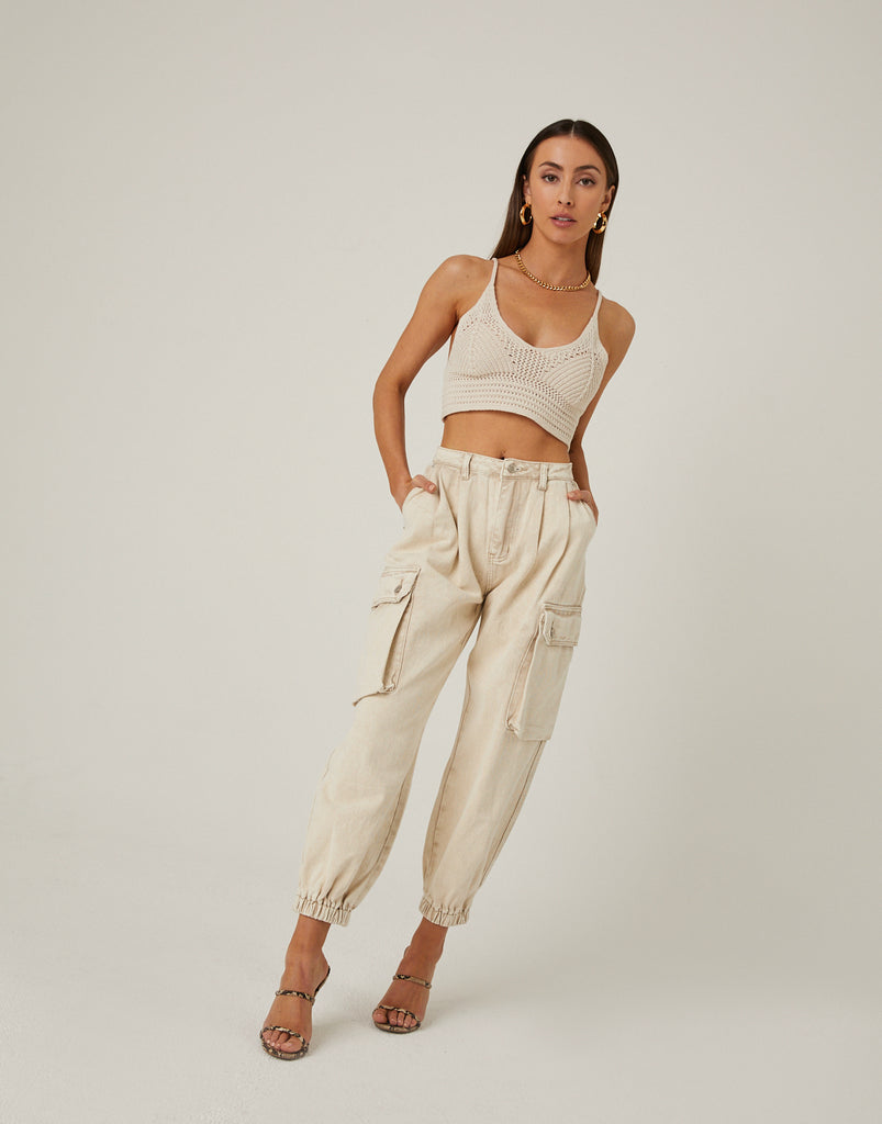 Cargo Pocket Jeans Bottoms -2020AVE