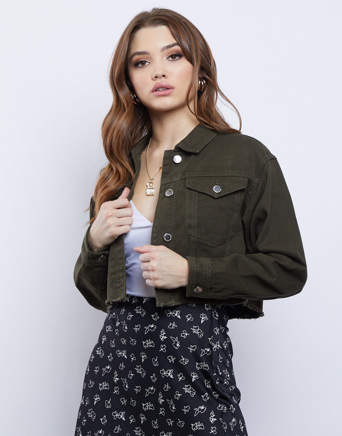 Caroline Cropped Denim Jacket
