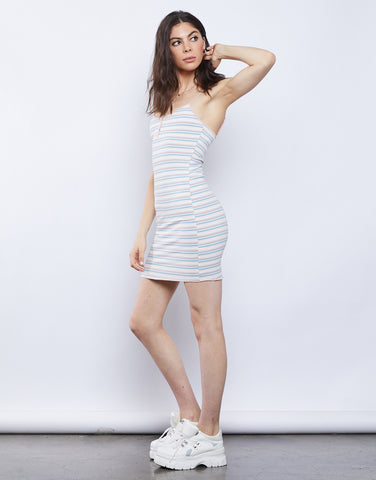 Casey Striped Bodycon Dress