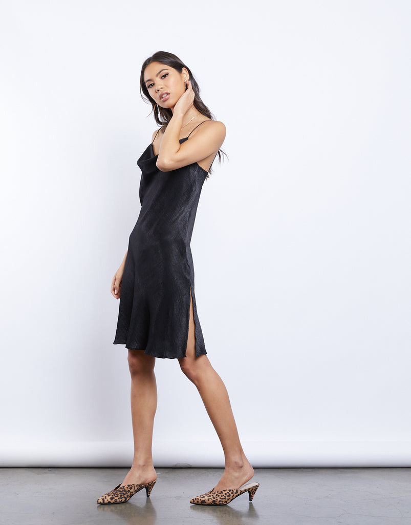 Cassandra Silky Cowl Neck Dress Dresses -2020AVE