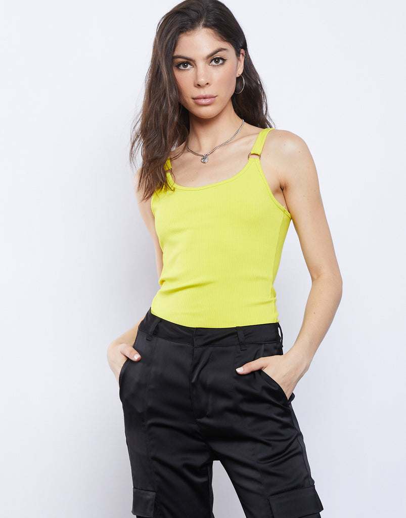 Cassie Bodysuit Tops Yellow Small -2020AVE