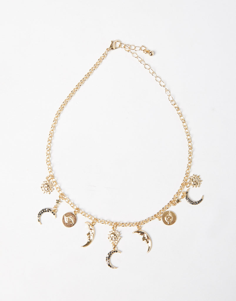 Celestial Charms Necklace-Jewelry-Gold-One Size-2020AVE