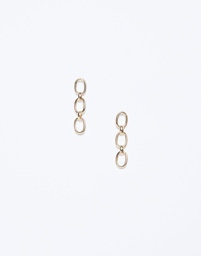 Chain Dangle Earrings Jewelry Gold One Size -2020AVE