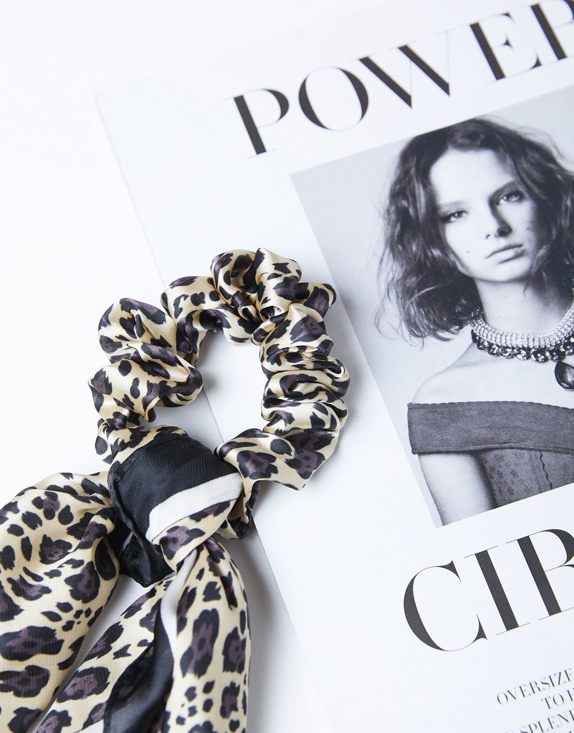 Chic Leopard Scarf And Scrunchie Set
