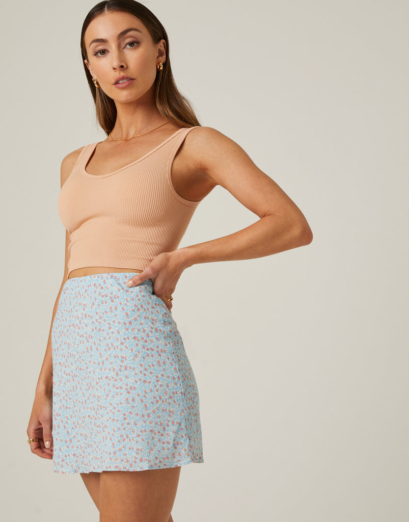 Chiffon Floral Mini Skirt Bottoms -2020AVE