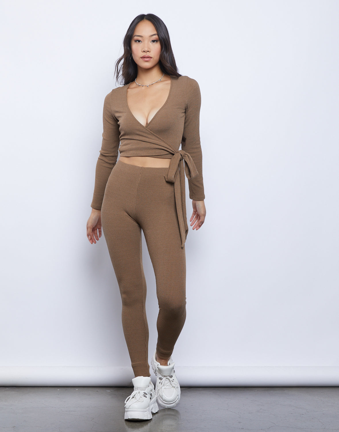 Chill Out Wrap Top and Leggings Set