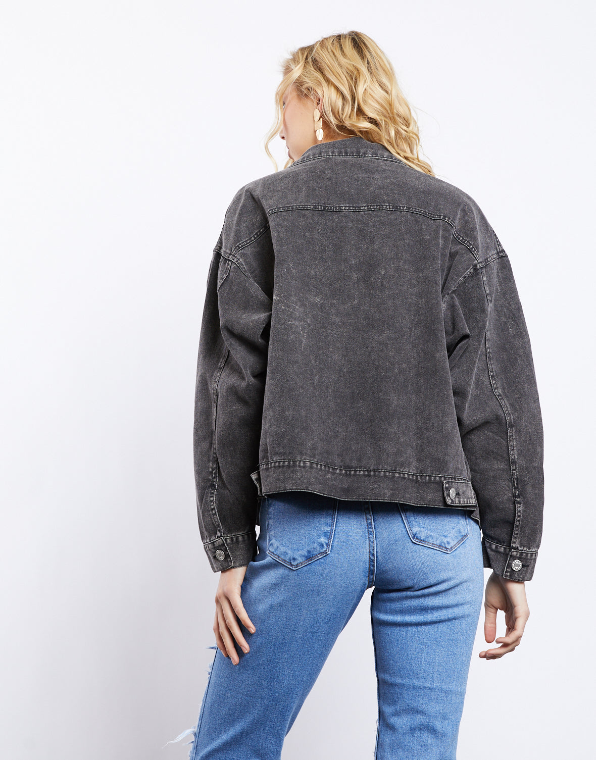 Chloe Worn Black Denim Jacket