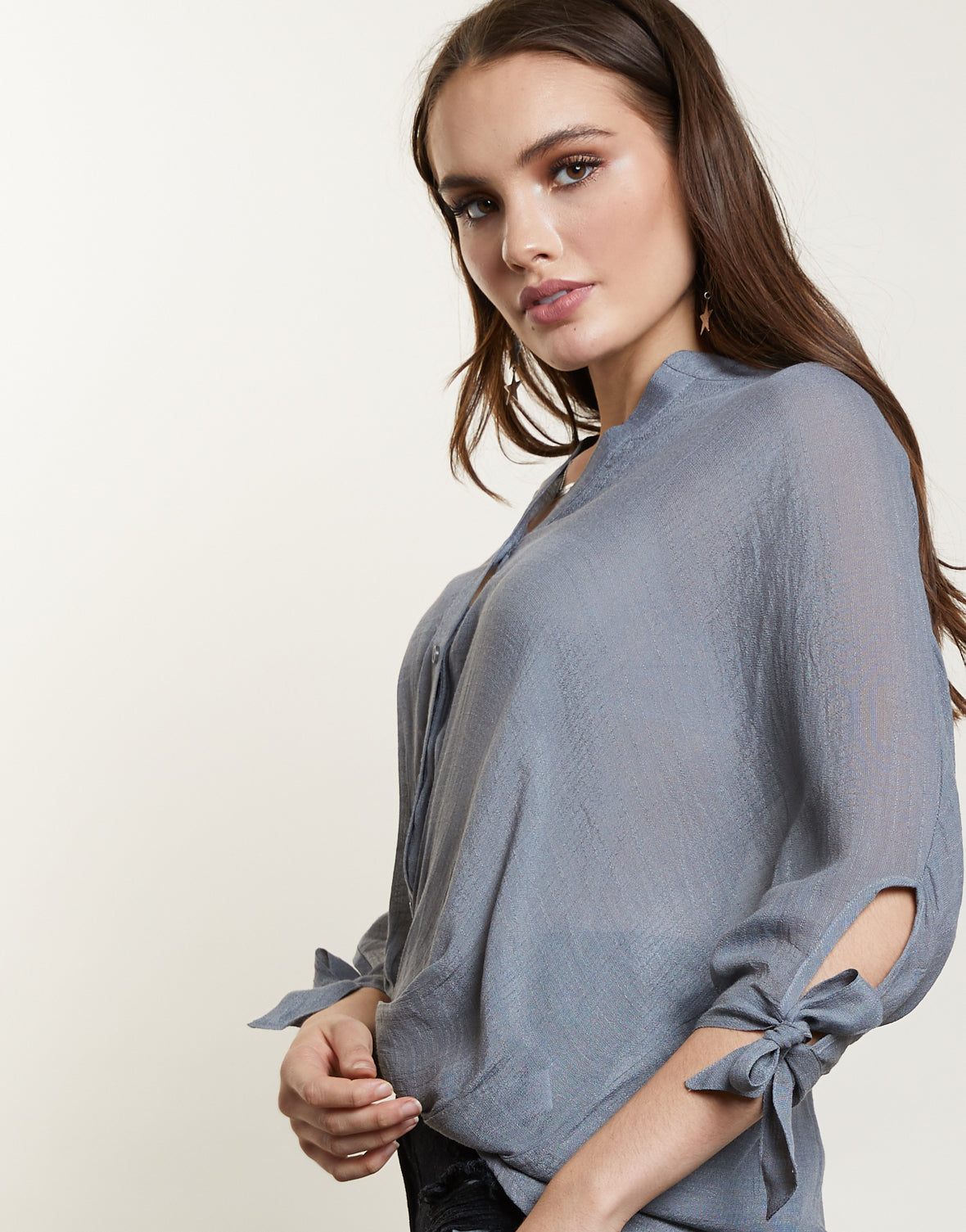 Christy High-Low Blouse