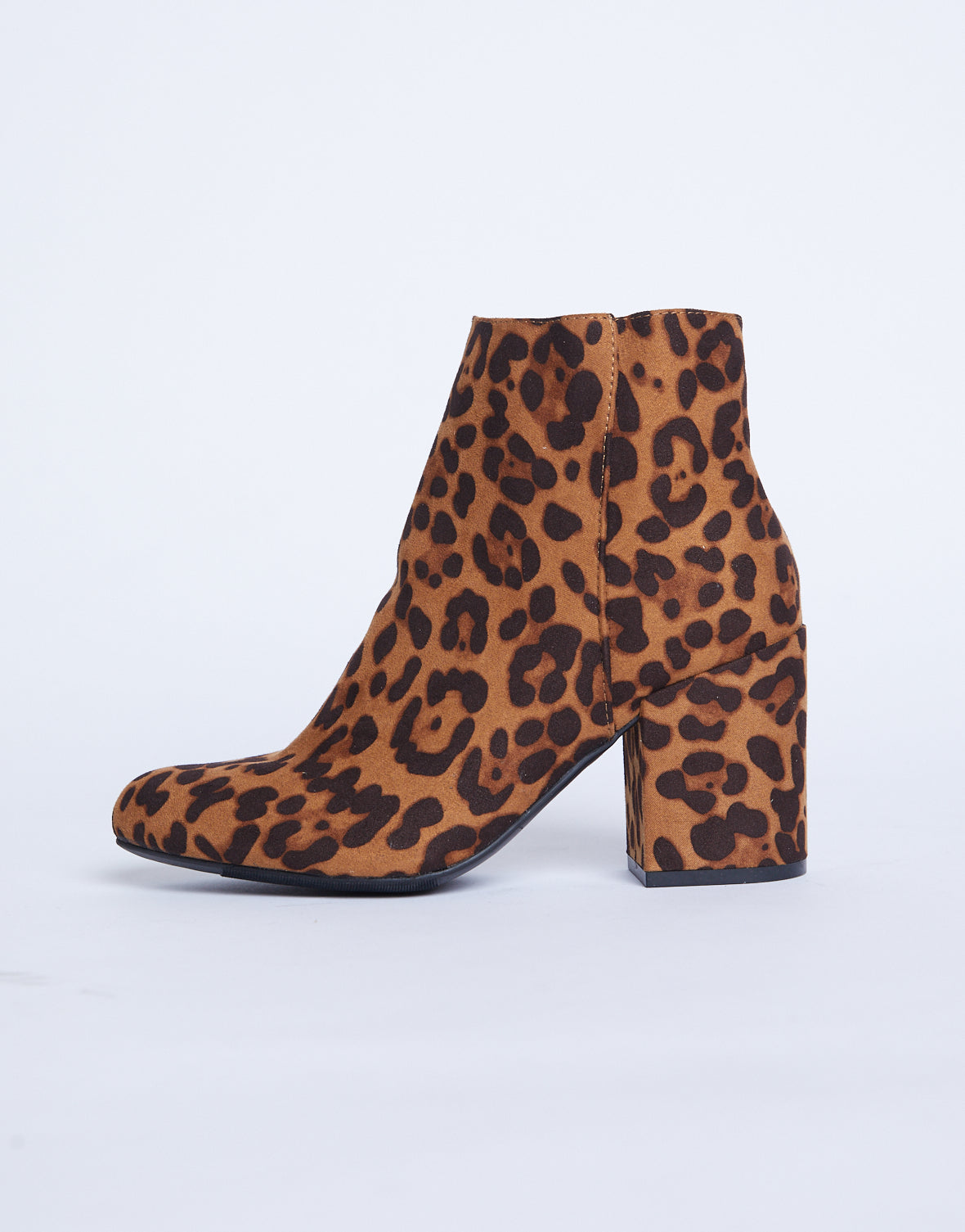 Chunky Leopard Babe Booties - Leopard