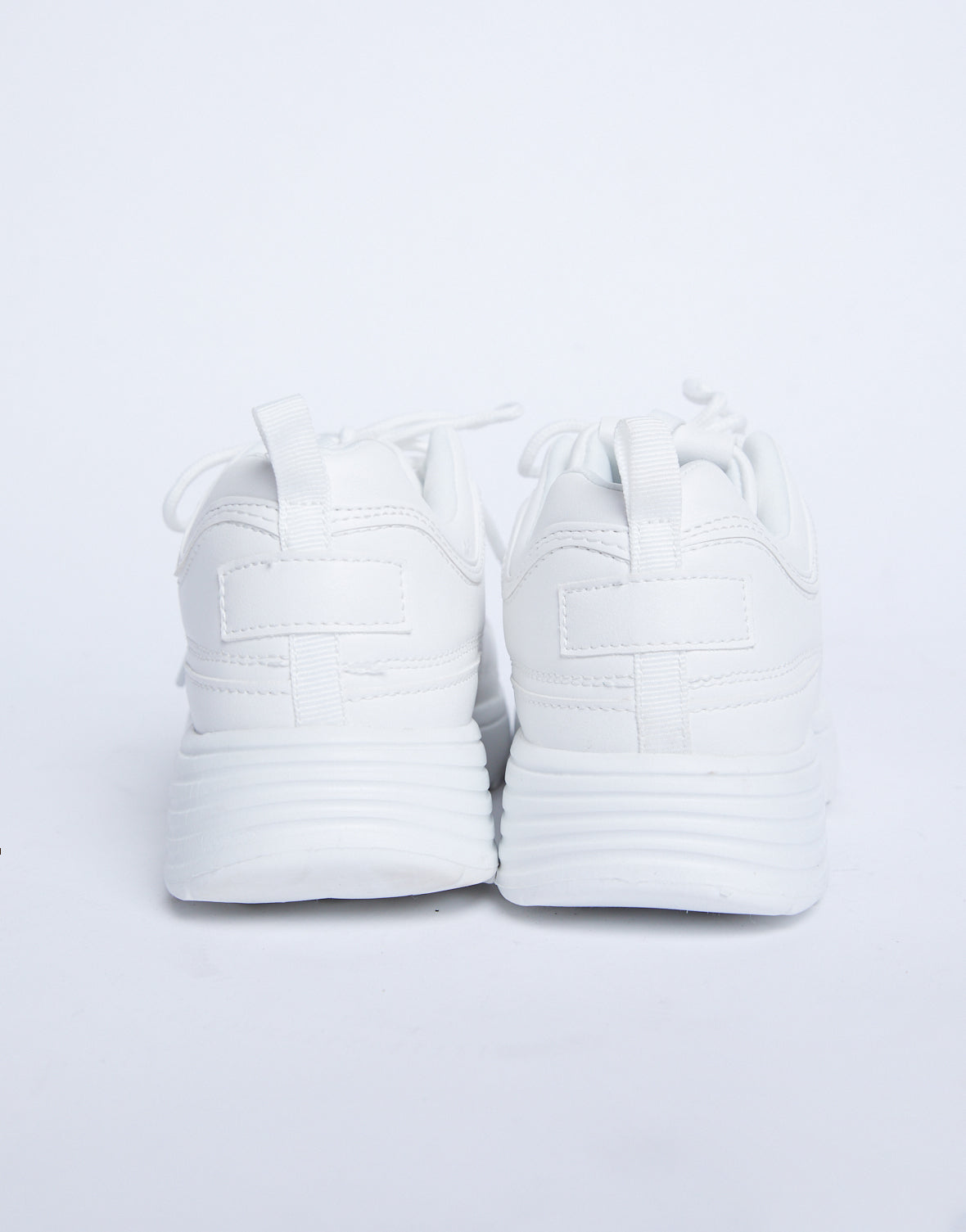 Chunky White Dad Sneakers