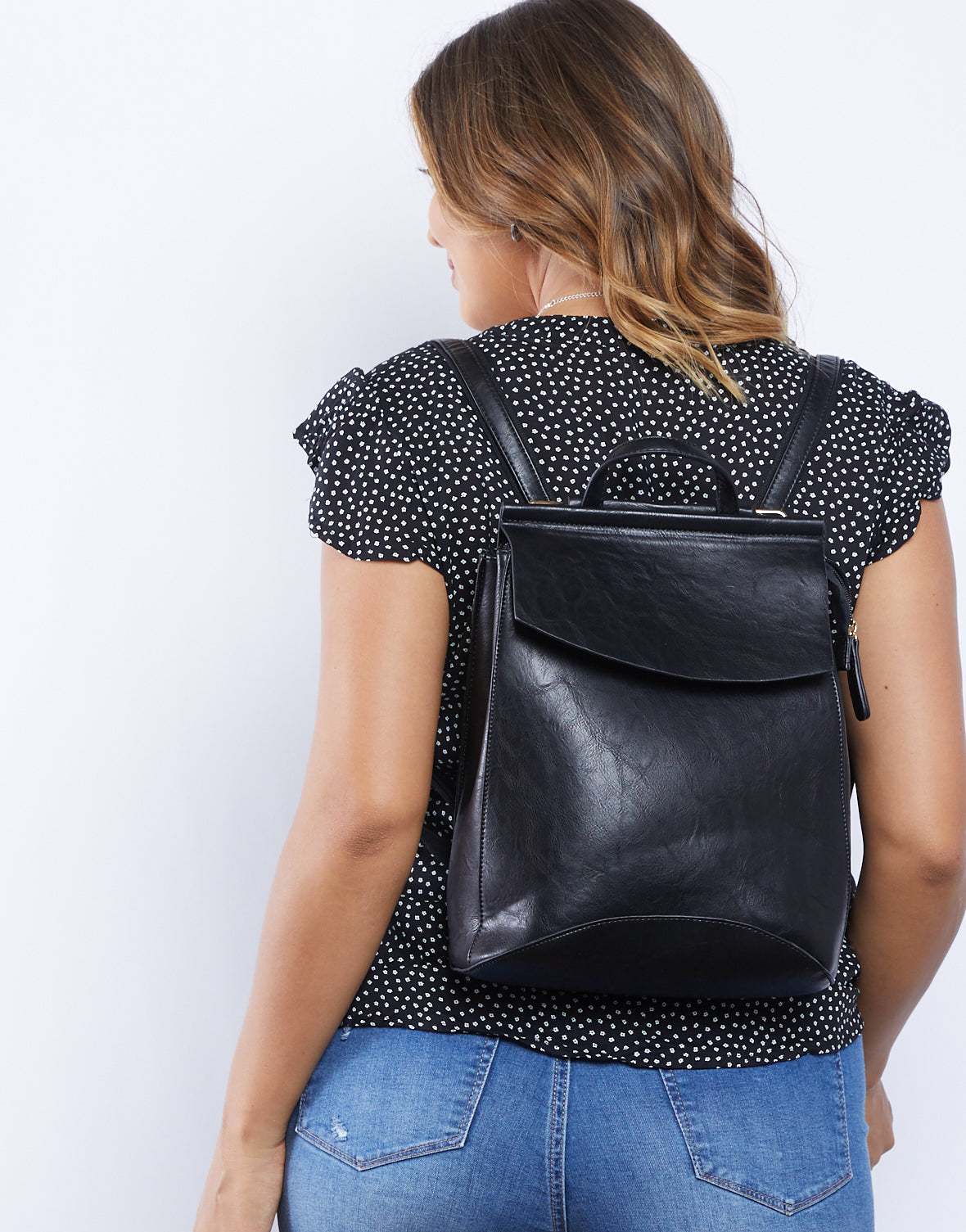 City Girl Leather Backpack