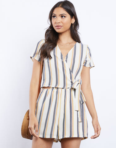 Claire Side Wrap Romper