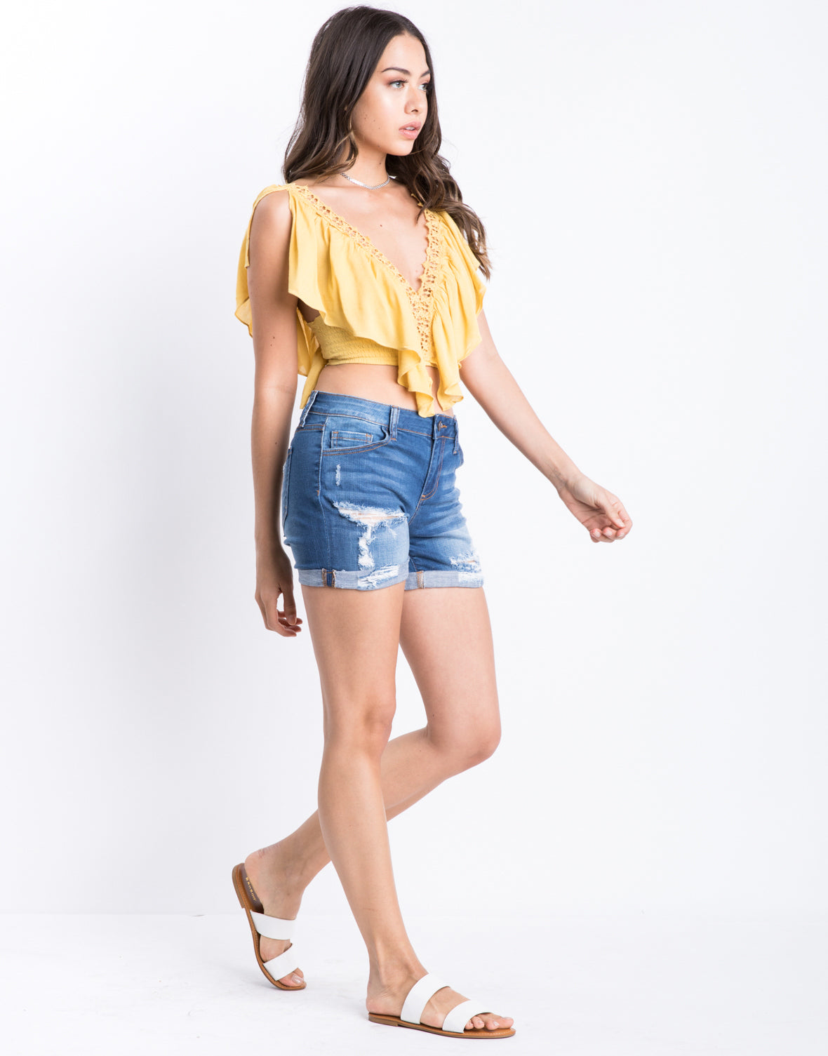 Classic Cuffed Denim Shorts