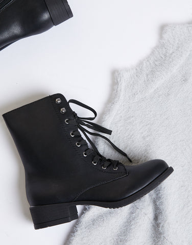 Classic Lace Up Combat Boots
