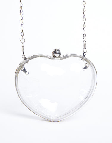 Clear Heart Shoulder Bag