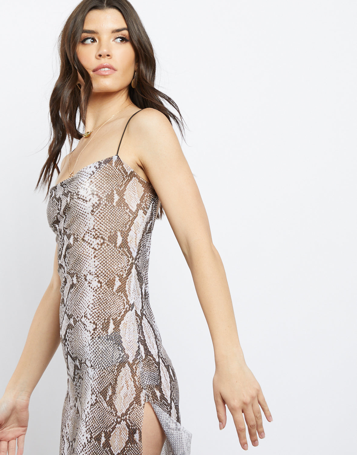 Collette Snake Print Dress
