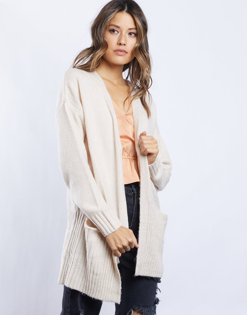 Cozy Kat Cardigan Outerwear Cream Small -2020AVE