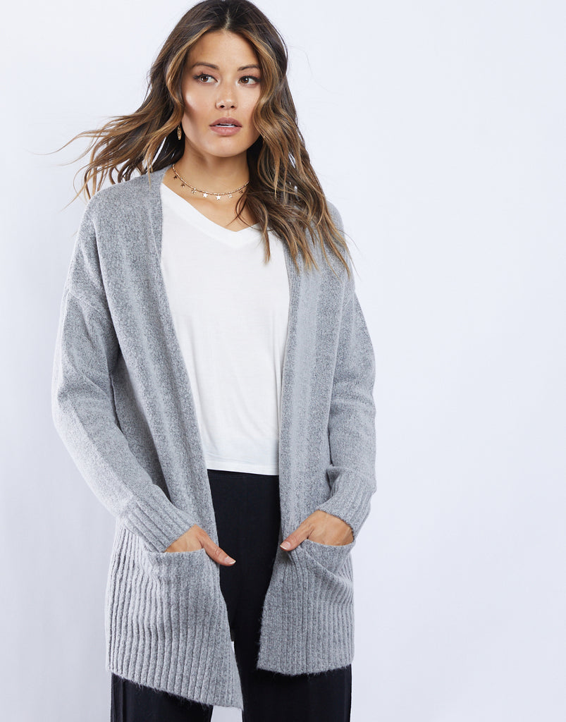 Cozy Kat Cardigan Outerwear Heather Grey Small -2020AVE