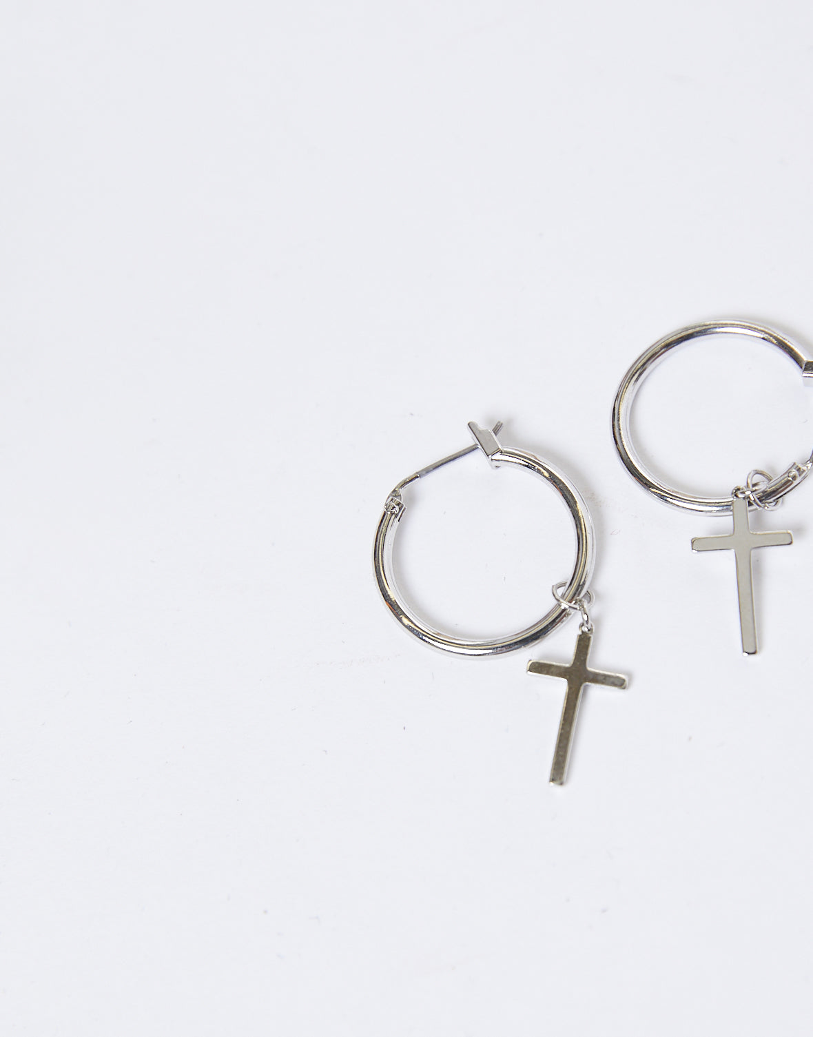 Cross My Heart Mini Hoop Earrings