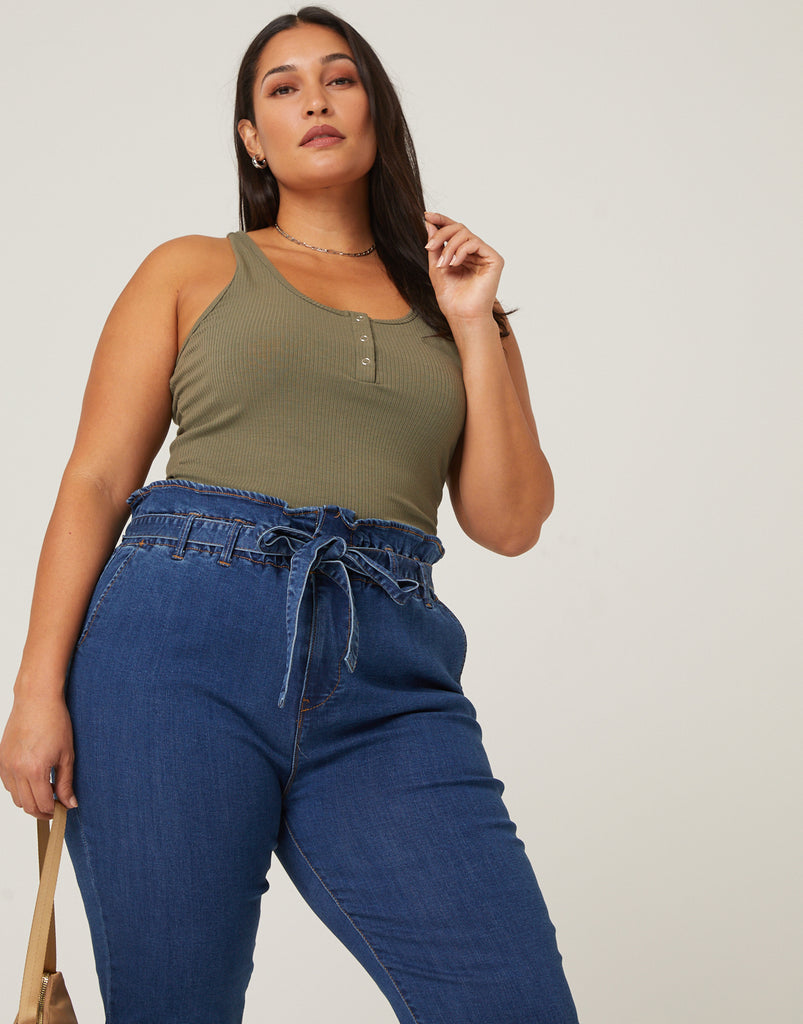 Curve Around and About Tank Plus Size Tops -2020AVE