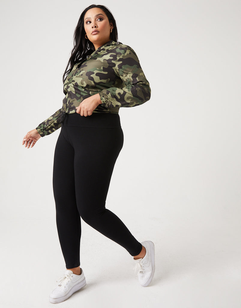 Curve Easy Does It Leggings Plus Size Bottoms Black 1XL -2020AVE