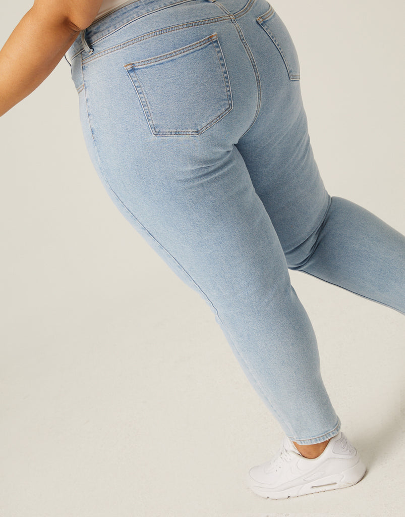 Curve High Rise Mom Jeans Plus Size Bottoms -2020AVE