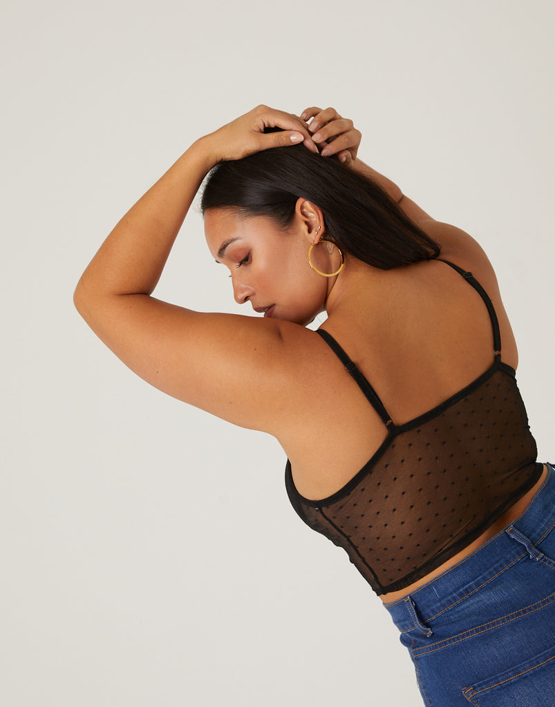 Curve Mesh Hook and Eye Bralette Plus Size Intimates -2020AVE