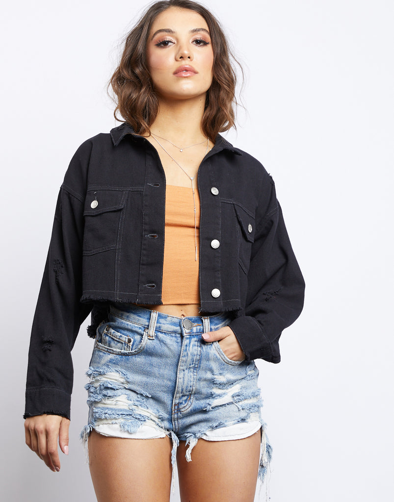 Cut To Black Denim Jacket Outerwear -2020AVE