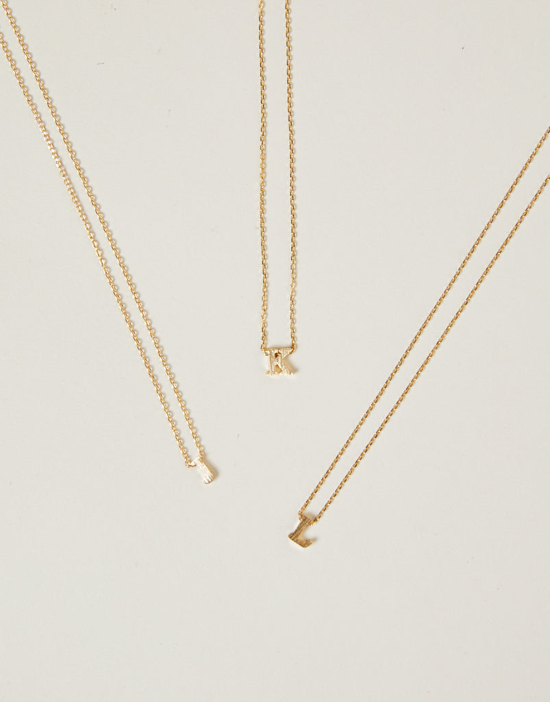 Dainty Letter Necklace Jewelry Gold One Size J-2020AVE