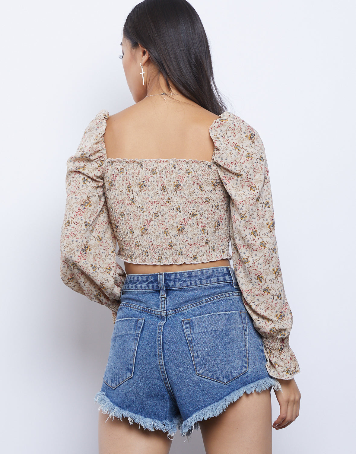 Daisy Floral Smocked Top
