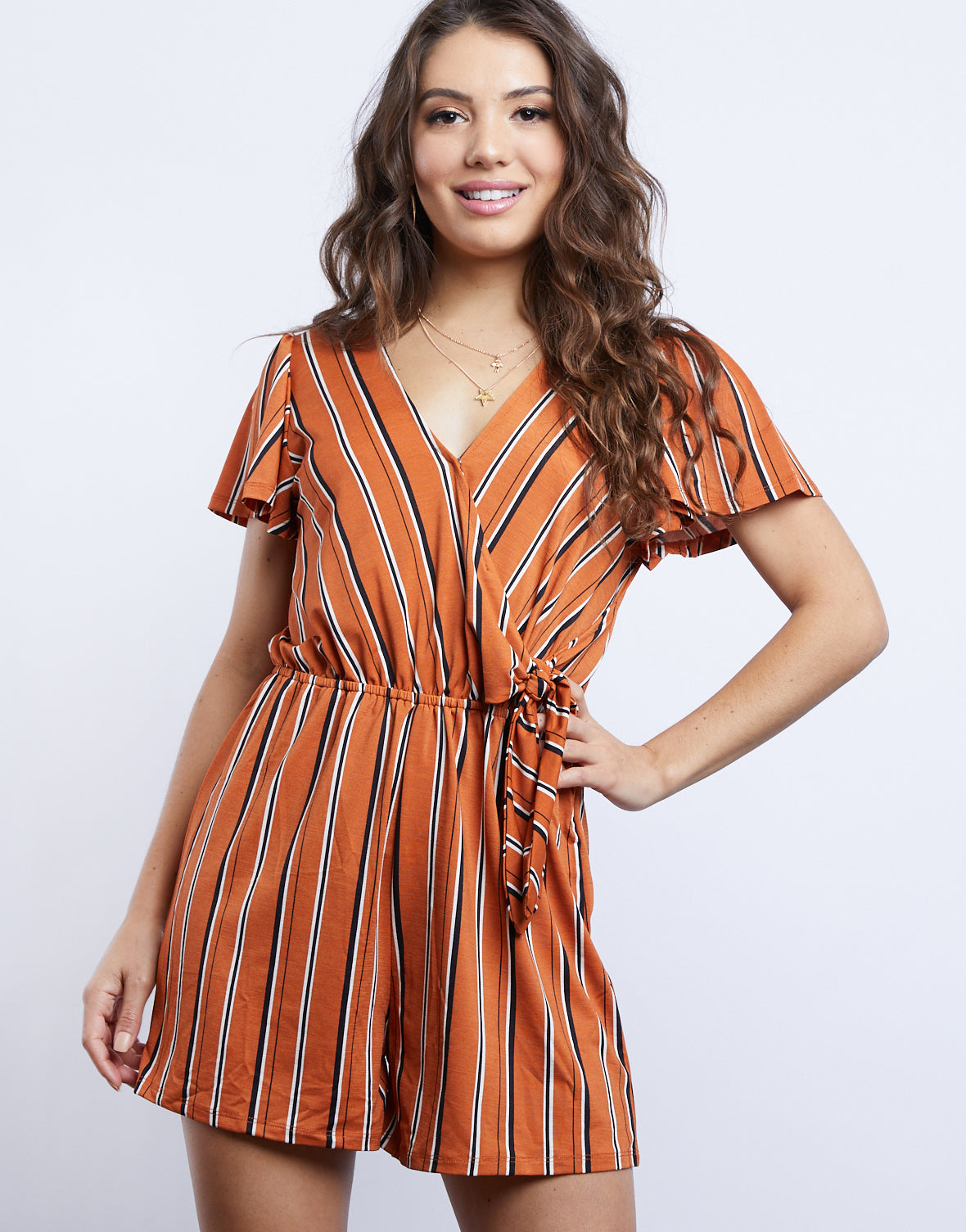 Darcy Striped Romper