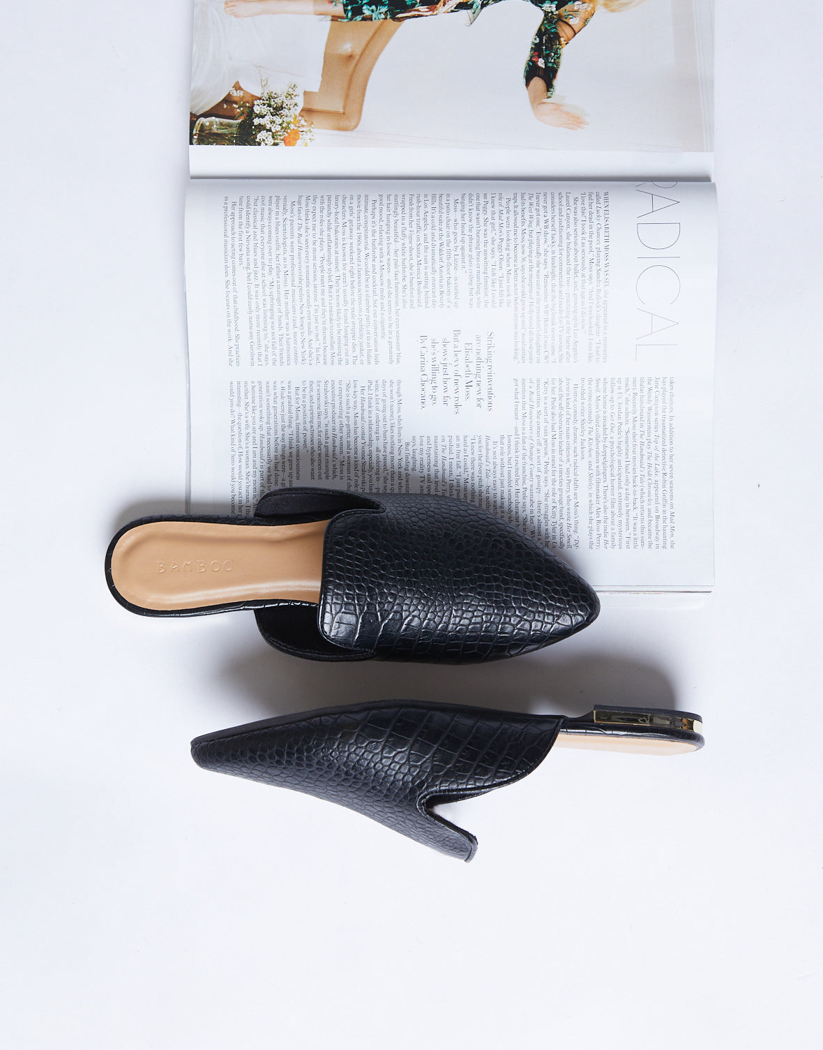 Debbie Ann Chic Leather Slides