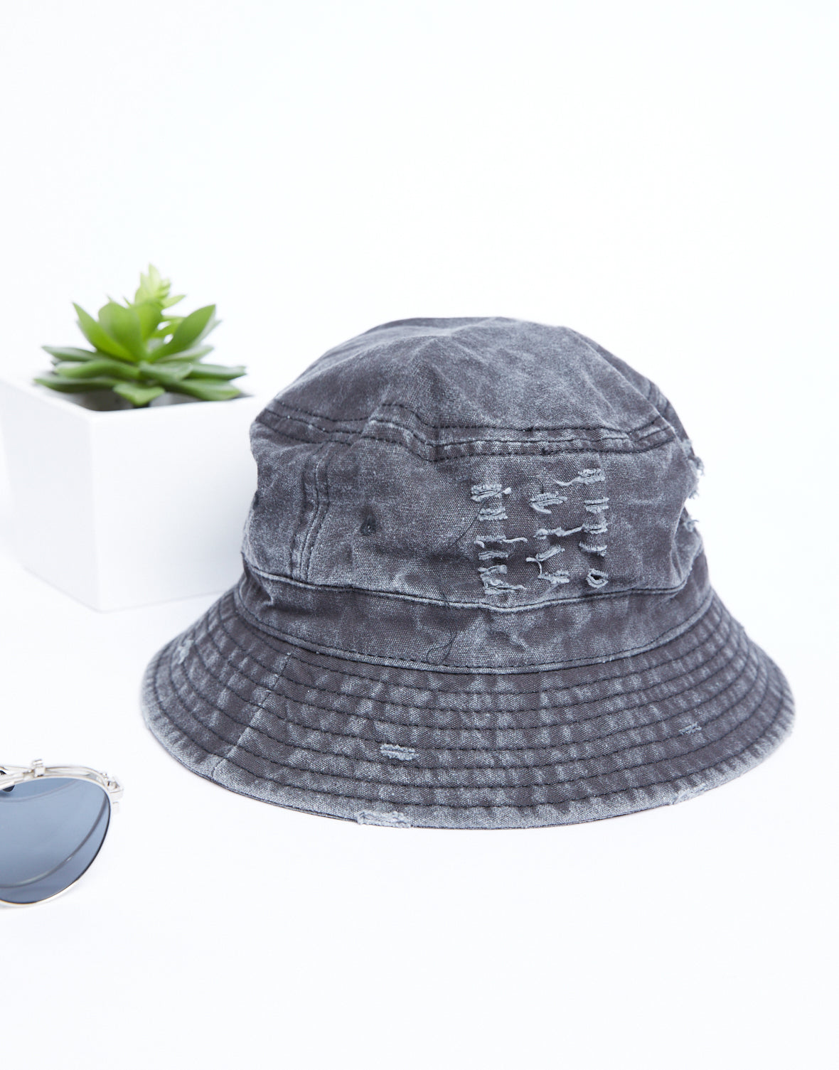 Distressed Bucket Hat