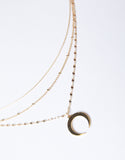 Double Horn Crescent Necklace