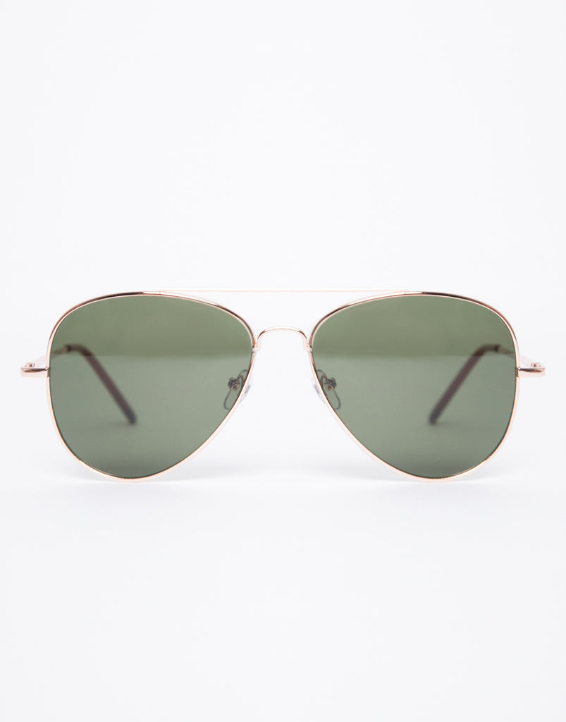 Down To Earth Aviators Accessories Green One Size -2020AVE