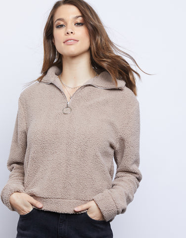 Doze Off Fleece Quarter Zip Sweater